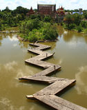 The wooden bridge Stock Image