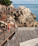 Wooden bridge. Koh Tao island, Southen of Thailand Royalty Free Stock Photography