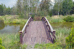 Wooden bridge 2 Royalty Free Stock Photo