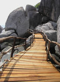 Wooden Bridge. Of little sea village in Thailand Royalty Free Stock Image