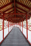 Wooden bridge. In the zoo,Thailand Royalty Free Stock Photos