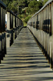 Wooden Bridge - Pedestrian Walkway - Perspective Royalty Free Stock Images