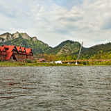 Dunajec river. royalty free stock images