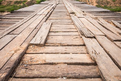 Wooden bridge across the canal Royalty Free Stock Image