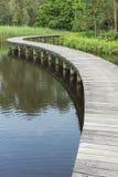 Wooden bridge Royalty Free Stock Images