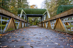 Wooden bridge. royalty free stock image