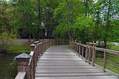 Wooden bridge, South Carolina Royalty Free Stock Photography