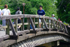 Wooden bridge in Arashiyama, Kyoto, Japan Royalty Free Stock Photography