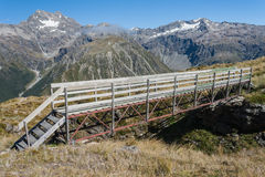 Wooden bridge in Arthur's Pass Royalty Free Stock Image
