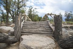 Free Wooden Bridge At Manzanar Royalty Free Stock Photos - 100515988