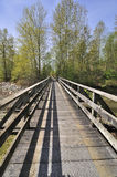 Wooden bridge by the beach Royalty Free Stock Photos