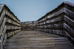 Wooden Bridge on the Beach Royalty Free Stock Image
