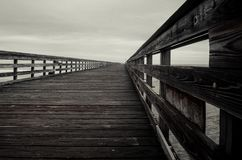 Wooden bridge at the beach Royalty Free Stock Photography