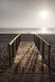 Wooden bridge at beach Royalty Free Stock Image