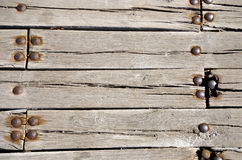 The wooden bridge boards Stock Images