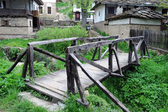 Wooden Bridge in Bozhentsi Village Royalty Free Stock Photos