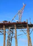 Wooden bridge builder in Sangkhlaburi, Thailand Royalty Free Stock Image