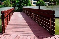 Wooden bridge corridor Royalty Free Stock Photography