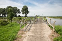 Wooden bridge in Dutch National Park Royalty Free Stock Image