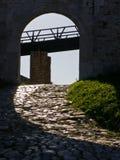 Wooden bridge at the entrance of Kalemegdan fortress in Belgrade Stock Image