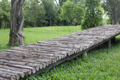 Wooden bridge. Royalty Free Stock Photos