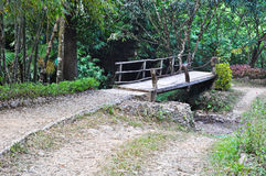 Wooden bridge in the forest,Pilok. Wooden bridge in the forest at Pilok, Thailand Royalty Free Stock Images