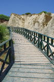 Wooden bridge - Gerakas Beach - Zakynthos, Greece. Stock Image