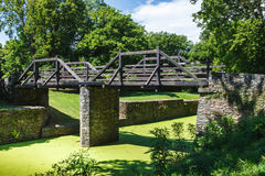 Wooden Bridge, Harpers Ferry, West Virginia Stock Images