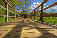 Wooden bridge HDR Stock Image