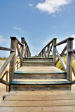 Wooden bridge - hdr Royalty Free Stock Photos