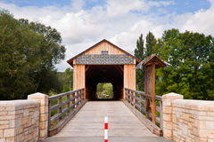 Wooden bridge Royalty Free Stock Photo