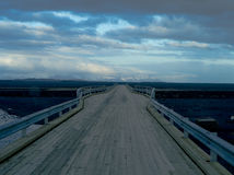 Wooden Bridge ,iceland. Wooden bridge in southern region of iceland Stock Photo