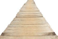 Wooden bridge isolated on white background Stock Photography