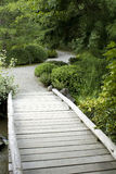 Wooden bridge in Japanese garden Royalty Free Stock Photo