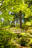 Wooden bridge, Japanese Garden, Portland, Oregon Stock Images