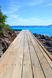 Wooden Bridge in Koh Lan, Pattaya Royalty Free Stock Photo