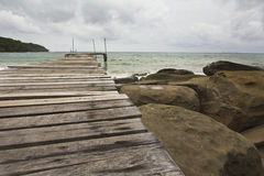 Wooden Bridge at Kood island Stock Photo