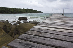 Wooden Bridge at Kood island Stock Photos