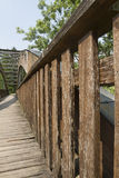 Wooden bridge on the lake. The wooden bridge on the lake Stock Image