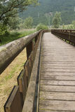 Wooden bridge on the lake. The wooden bridge on the lake Stock Photo