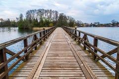 Wooden Bridge on Lake Royalty Free Stock Photo
