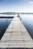 Wooden bridge at a lake Royalty Free Stock Photography