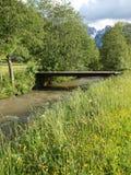 Wooden bridge in landscape Stock Photography