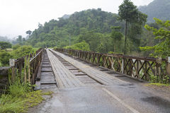 Wooden bridge, Laos Stock Images