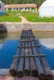 Wooden bridge leading to home Stock Photography