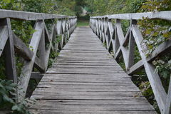 Bridge. Wooden bridge located in a former medieval fortress, in Cherveni, Bulgaria Stock Photos