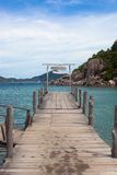 Wooden bridge at Nangyuan island Stock Images
