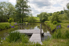 Wooden bridge and nature Stock Images