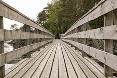 Wooden bridge. Old wooden bridge view Stock Photography
