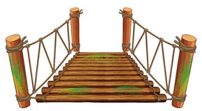Free Wooden Bridge On White Background Royalty Free Stock Photography - 89085037